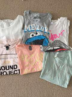 ASSORTED GIRLS T-SHIRTS seed teen jay jays H&M cotton on supre zara just jeans
