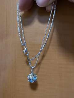 Anklet with bling bling ball