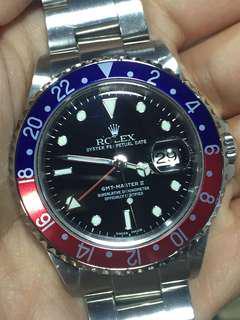 勞力士 Rolex 16710 GMT Master II Full Set 百事 藍紅圈 有紙 已抹油  16610 16570