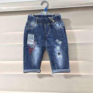 Stretchable Denim Shorts for 5-6yo