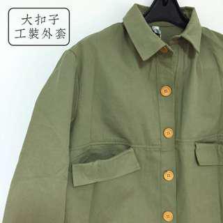 🚚 軍綠色工裝外套