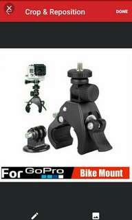 🚚 🆕🆒 Gopro Digital Camera Handlebar Mount ✔ Great For Motorcycle, Bicycle And Scooter Handlebars To Mount Actioncam Or Video 📹 Recording Device
