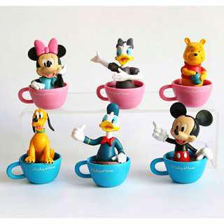 New mickey minnie mouse daisy donald duck winnie the pooh Birthday cake topper decorations figurines cars accessories party Disney Figurines