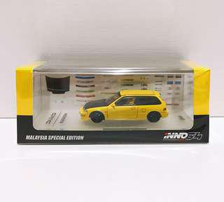 全新未拆 INNO64 Honda Civic EF9 SiR Yellow 馬來西亞 限定 Malaysia Special Edition