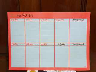 Magnet weekly planner (whiteboard)