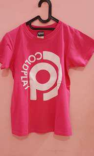 Good DEAL !! Kaos COLDPLAY PINK