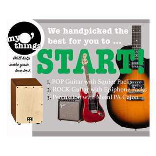 START Playing Guitar or Cajon