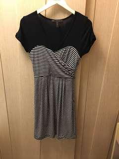 BCBG maxazria black and white stripe dress 🐼
