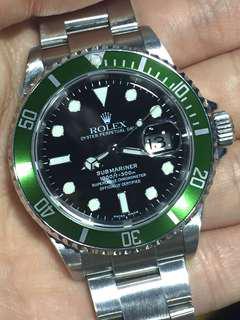 勞力士 Rolex Submariner Green 16610 LV 綠圈黑面 50週年 gmt daytona  16710 16570