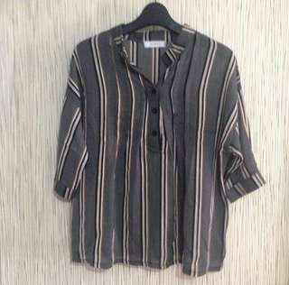 Stripe blouse ( blouse garis / blouse cantik / blouse import )