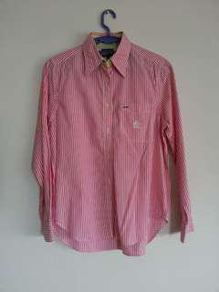 Tommy Hilfiger Pink Stripes Long Sleeve Shirt