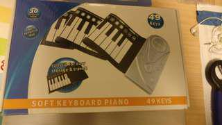 可捲式電子琴
