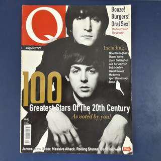 Q Magazine: August 1999 - Paul McCartney & John Lennon