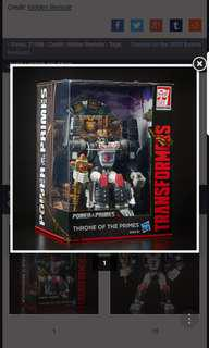 Transformers hasbro potp power of the primes sdcc exclusive throne of the prime optimus primal