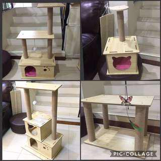 (New!) cat scratch pole house bed