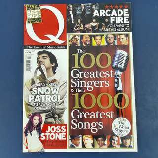 Q Magazine: April 2007 - 100 Greatest Singers & Their 1000 Greatest Songs