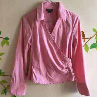 Pink Polo Overlap Shirt