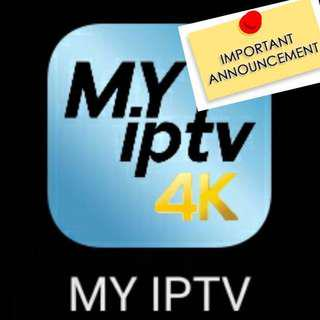 Important announcement to all my customers! New update for Myiptv 4K