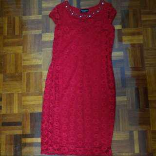 Dorothy Perkins Bodycon Lace Dress In Red #under90 #mcsfashion
