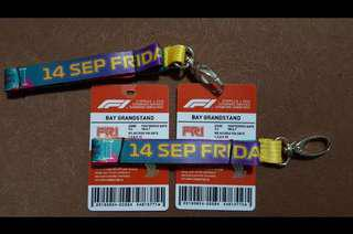 F1 Ticket Friday Bay grandstand - jay chou concerts