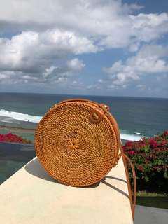 Round rattan bag (inc postage)