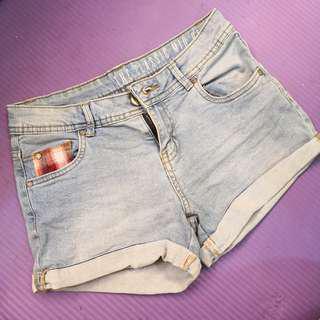 cotton on high waist denim shorts