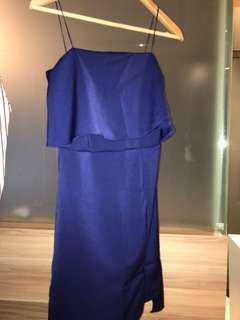 Blue straps dress