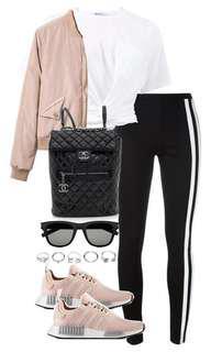 ZARA white side striped pants trousers leggings blouse top shop zalora asos forever21 adidas stella mccartney yoga set 有側袋白色間條修身長褲 型款休閒褲 運動褲 襯衫 套裝