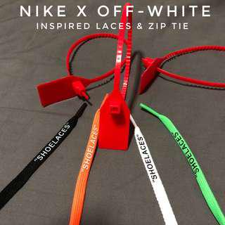 🚚 Nike x Off-White Flat Laces Inspired