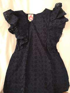 Cotton on kids black dress size 6