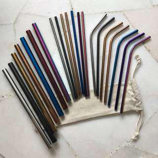 INSTOCKS CHEAPEST Metal Straws Bubble Tea Straw Drinking Eco Friendly Stainless Steel Food Grade