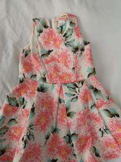Gingersnaps pink floral dress size 6
