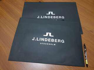 J. LINDEBERG 名牌精品 紙袋 購物袋 大款