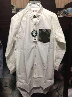全新AAPE女裝白色長䄂裇衫(可當外套)