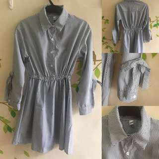 Stripe Korean Style Dress