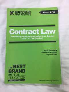 BAC A levels Contract Law Suggested Answers to Past year questions