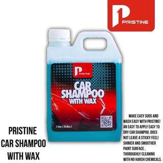 Pristine shampoo with wax