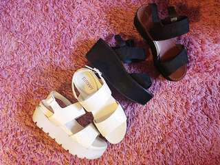 WINDSOR SMITH + THERAPY FLATFORM SHOES