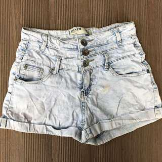 🚚 Cotton On Highwaisted Light Wash Denim Shorts #under9