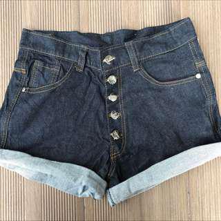 🚚 Dark Wash Highwaisted Denim Shorts #under9