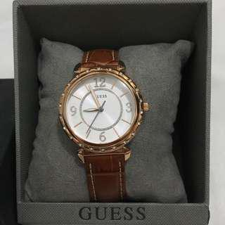 NEW! Guess Leather Strap Watch