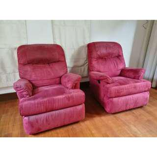 Motorized Reclining Lazy Armchairs 2 units