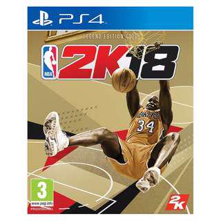 PS4 and Xbox one NBA 2K18 Legend Edition Gold