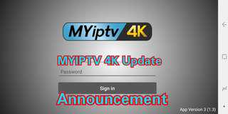 MYIPTV App Update