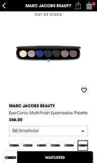 BRAND NEW & SOLD OUT AUTH MARC JACOB PALETTE