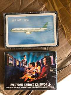 Old airlines play cards - unused
