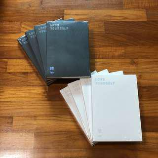 instock bts love yourself her tear your and all other bts albums instock