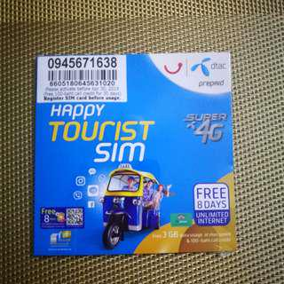 4G SIM card DTAC for Thailand