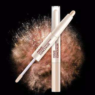 NOVO Dua Kepala Liquid Concealer Stick / Pencil Anti Air Pelembab Concealer Cream