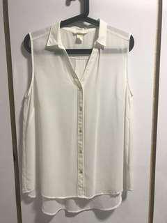 H&M White Sleeveless Top